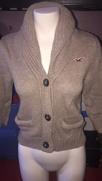 gray and black knitted button up jacket Winnipeg, R2L 0L8