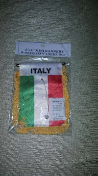 Italy flag with suction cup