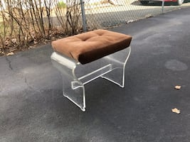 Lucite bench chair