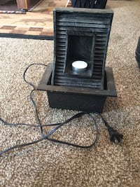 Black electric water fountain and candle holder West Fargo, 58078