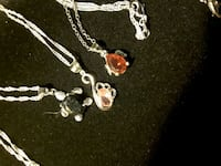 Necklaces with Gems & Sterling Silver s925 Chains 10$ each or 3=20$ Ladson, 29456