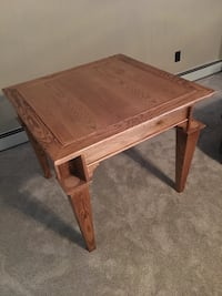 Solid Oak Reversible Card Table Portage, 15946