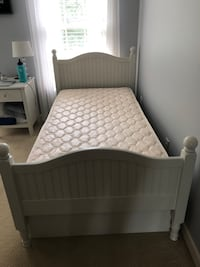 bed frame with trundle drawer AND twin mattress Gaithersburg, 20878
