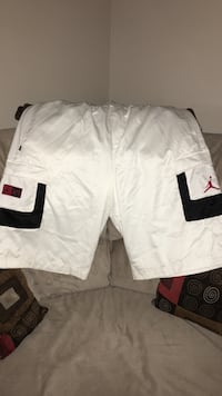 White and black air jordan shorts XXL Burlington, L7R 1J7