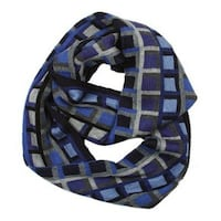 Blue Plaid Infinity Scarf LAUREL