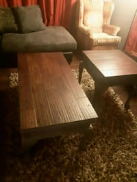 rectangular brown wooden coffee table Cowichan Valley, V0R