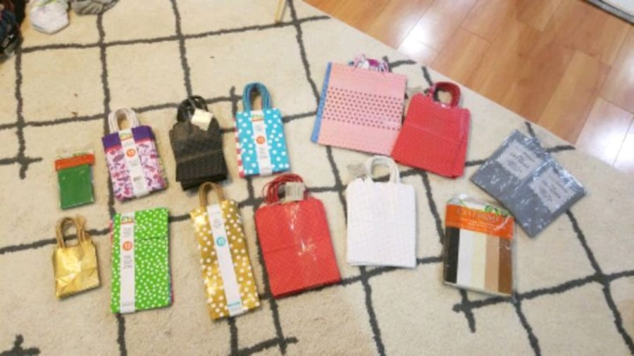 Gift bags and tissue paper *brand new** f9b8ad88-b3d9-4e60-820c-a0ab6d597993