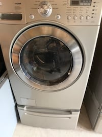 Washer and dryer with stand