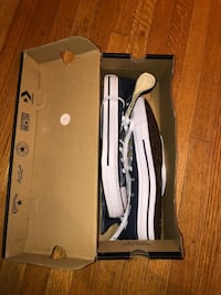 Navy blue high top Converse still in original box