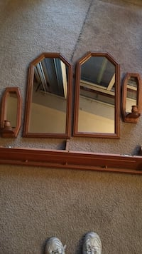 brown wooden framed wall mirror South Windsor, 06074