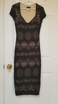 Beautiful Black and Nude Lace Dress Surrey, V3W 1H7