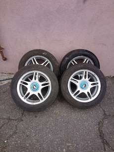 4x100 alloy rims with tires 15 inches