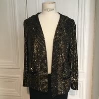 Petite Veste Sequins Or Paris