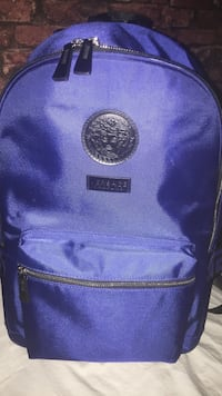Versace blue back pack mint condition.
