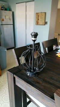 Black Metal Table Lamp Middle River, 21220