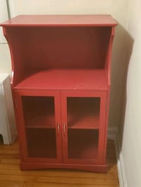 Red Microwave Cart/Kitchen Buffet