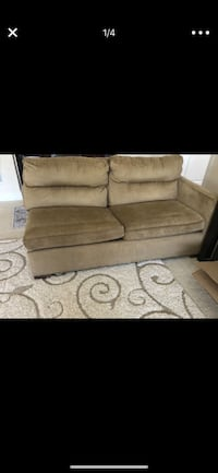 brown fabric 2-seat sofa 7 mi