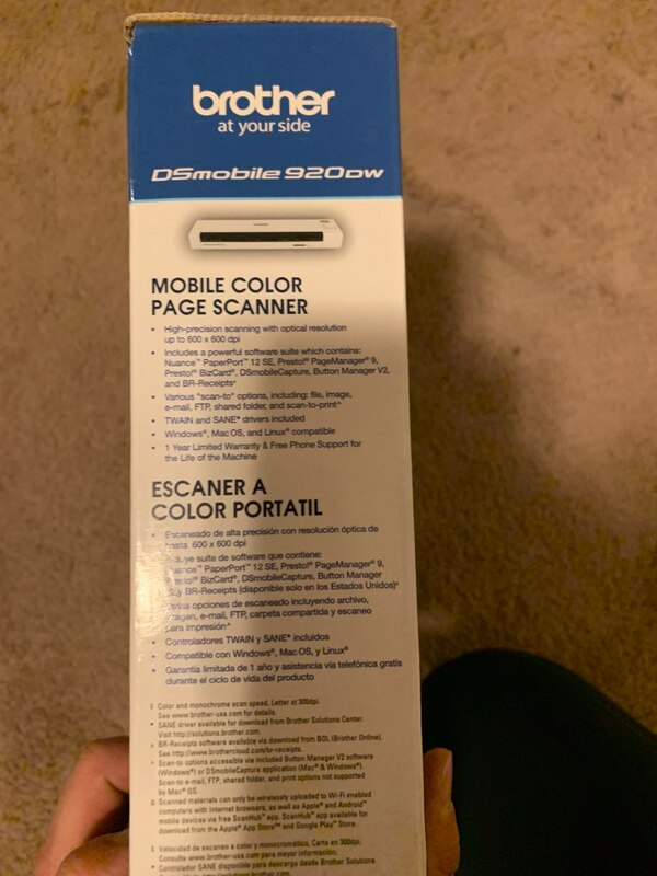 DS mobile wireless scanner