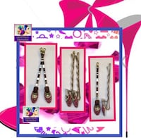 "Pink Shoe Hair Pins ""New"""