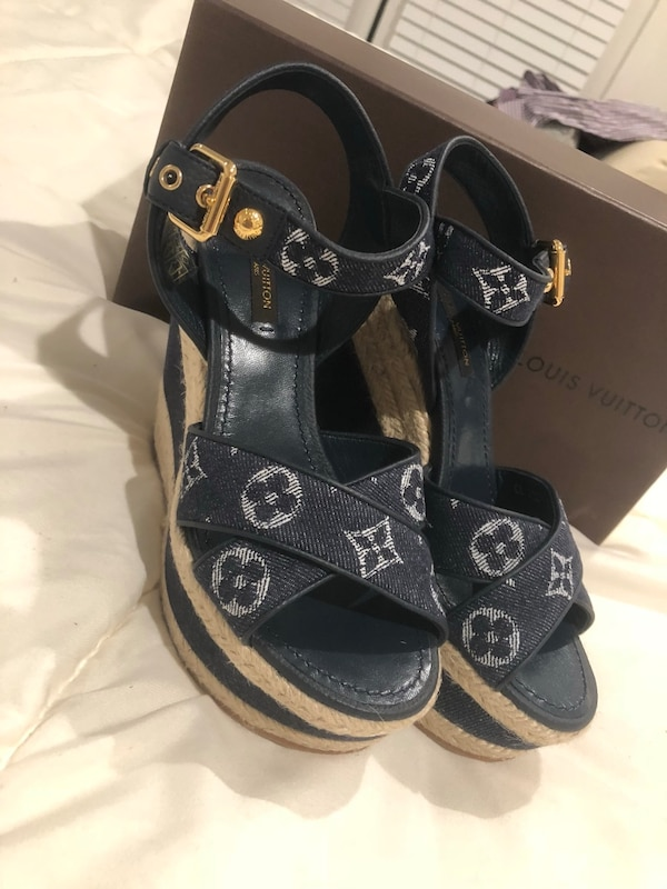 ab73c4a5f279 Used Authentic Louis Vuitton denim wedges for sale in Livermore - letgo