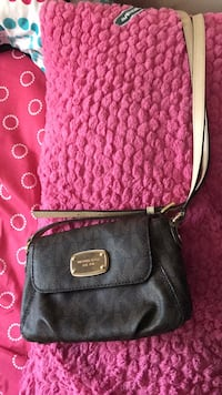 Black leather crossbody bag with tassel MK ( REAL)  Burnaby, V5G
