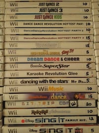 Dance games for Nintendo Wii selling individually Vaughan, L4L