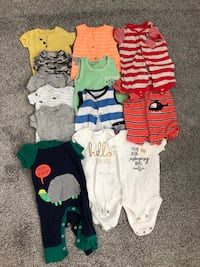 Newborn summer clothes/ onsies Haymarket, 20169