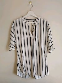 RIVER ISLAND white and black stripe  shirt Greater London, SE19 3NL