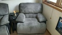 gray fabric recliner sofa chair Orland Park, 60467