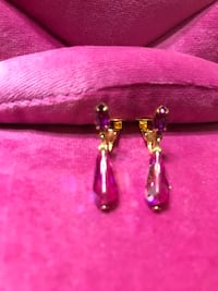 Gorgeous! Hot Crystal pink clip  Earrings   Gainesville, 20155