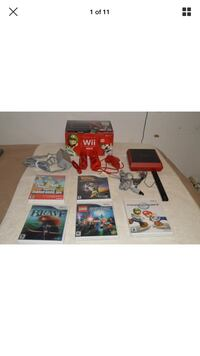 Red and black nintendo wii console with controllers Scarsdale, 10583