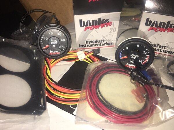 Bank power boost and exhaust temp gauges