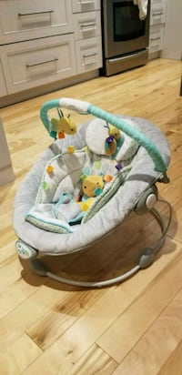 Taggies  soft 'n snugbaby's gray and green bouncer Toronto, M8V 3E4