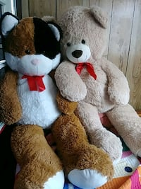 white and brown bear plush toy Los Angeles, 91405