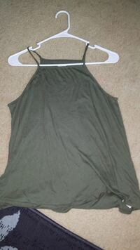 women's olive green halter tanktop Saint Paul, 55106
