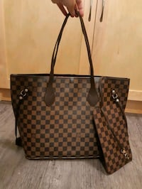 Brand New Neverfull in Brown Checker Calgary