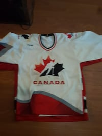 white, red, and black Toronto Maple Leafs jersey shirt Surrey, V3T 1Z3