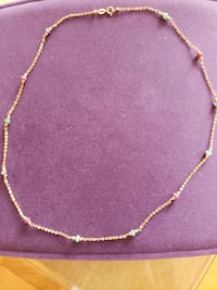 18kt gold and gemstones chain Manassas