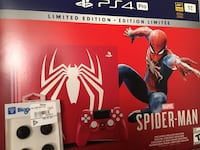 Spider-Man PS4 Pro Console New with extra thumb grips + dlc code Oshawa, L1H