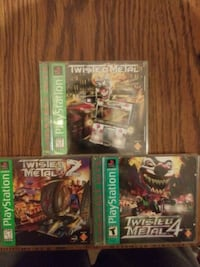 Twisted Metal 1,2,4 (Green Label) (Playstation One 423 mi