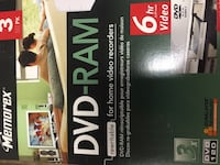 5 new DVD Ram (recordable). PLEASE NOTE OUR ADDRESS