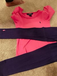 pink Polo by Ralp Lauren long-sleeve shirt with pants