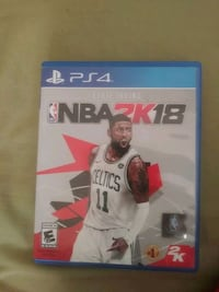 Sony PS4 NBA 2K18 game case Lanham, 20706