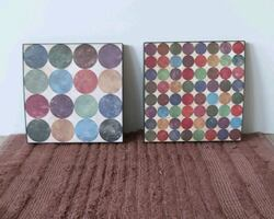 Set of 2 *dotted*pictures