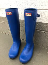 Size 9 Blue Hunter Boots Quincy, 02169