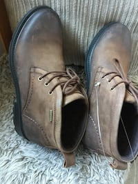 pair of brown leather chukka boots Mississauga, L5R