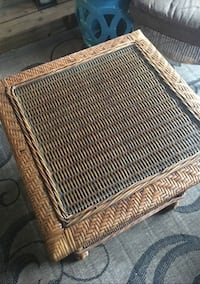 Brown glass Wicker table