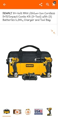 black and yellow Dewalt power drill Adelphi, 20783
