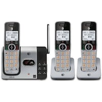 AT&T CL82314 DECT 6.0 Expandable Cordless Phone with Answering System and Caller ID, 3 Handsets