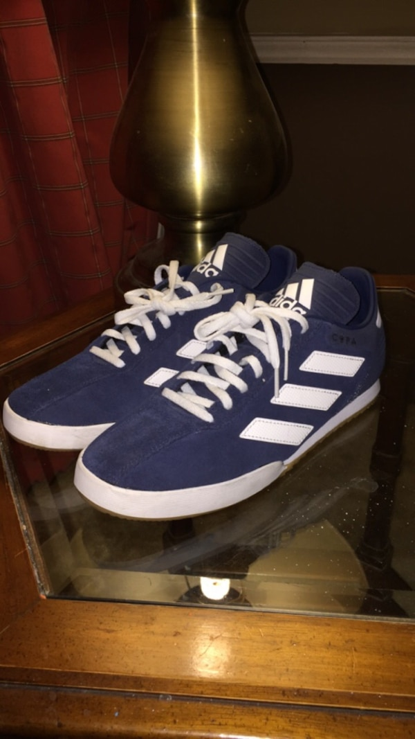 2fb4c60981cc Used blue-and-white Adidas high top sneakers for sale in Dallas - letgo